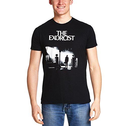 Der Exorzist Herren T-Shirt Poster zum Horror Film von Elbenwald Baumwolle schwarz - (Pate Teufel)