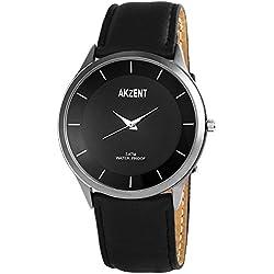 Akzent Herren-Armbanduhr XL Analog Quarz verschiedene Materialien SS7571000015