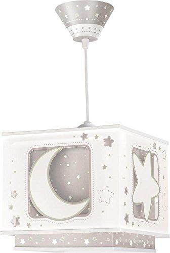 LED Kinderlampe Mond Sterne Stern Nacht Nacht-Leuchtend moonlight 63232e Dimmbar warmweiß 1000lm Mädchen & Jungen Kinderzimmerlampe Deckenlampe -