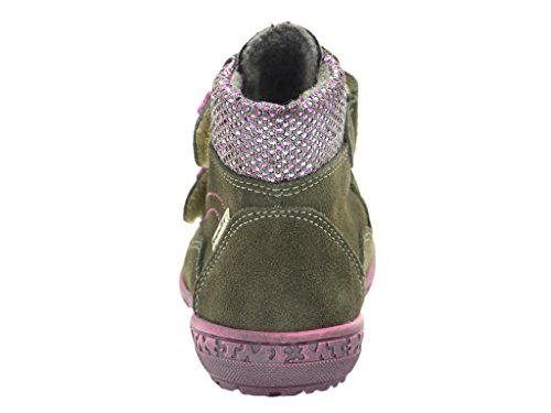 Richter Mädchen Schuh 1332, Velour/Textil 421, pebble/lollypop 6611, EU Grau