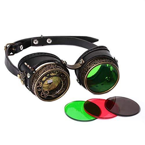 Yiph-Sunglass Sonnenbrillen Mode Cosplay Partei Maskerade Requisiten Steampunk Brille Vintage Punk Goggles