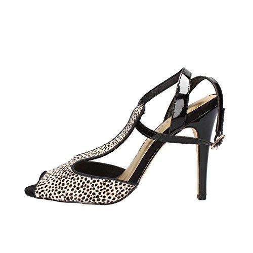 BIBI LOU sandali donna nero cavallino bianco vernice AF373 (38 EU)