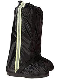 Cubierta de Zapato Oxford Reutilizable Espesa Suela Impermeable Slip Plegables para el Aire Libre Cubrezapatos (Negro XL)