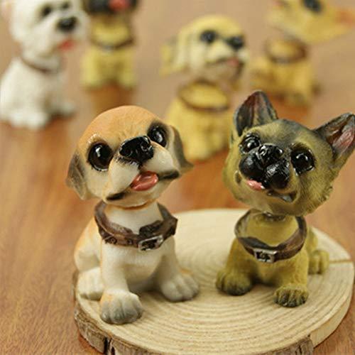 Yangyang Auto Styling Hund Puppe Anzug Nette Reizende Einfache Stilvolle Authentische Mode Auto Hund Kopfschütteln Hund (Wackelhund × 6)