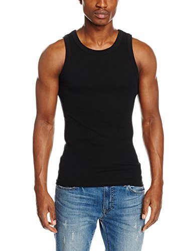 Urban Classics TB066 Herren Top Mens Tanktop Schwarz (Black 7), Medium
