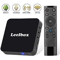TV Box Android 8.1 - Leelbox Smart TV Box con Mando Inteligente, 2GB RAM & 16GB ROM, 4K*2K UHD H.265, HDMI, USB*2, WiFi Media Player, Android Set-Top Box