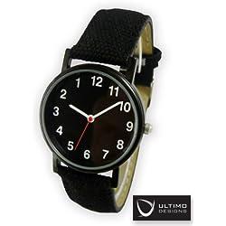 Ultimo Design's Backwards Watch - Black