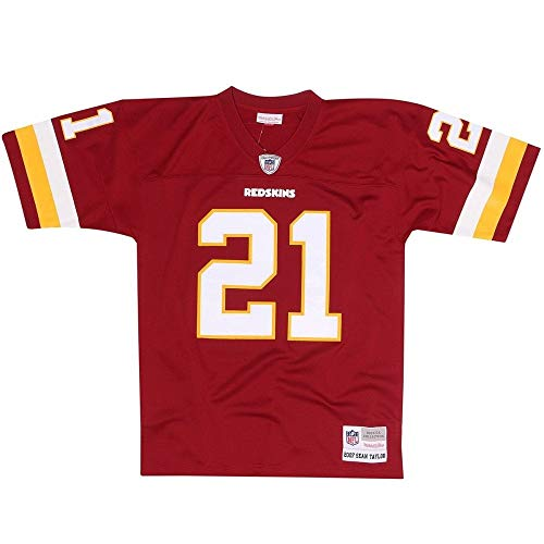 Mitchell & Ness Sean Taylor #21 Washington Redskins Legacy Throwback NFL Trikot Rot, S - Ness Throwback Mitchell