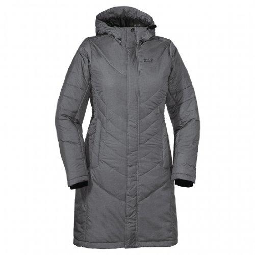 Jack Wolfskin Damen Wintermantel Crystal Iceguard, grey heather, XL, 1201011-6110005