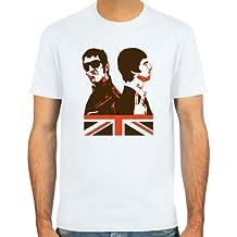 Pixda T-Shirt Liam & Noel Gallagher ::: Farbauswahl: skyblue, sand oder weiß ::: Größen: S-XXL