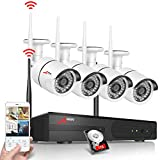 ANRAN 4ch 720P WIFI Wireless NVR System Home Surveilliance Security System with 4