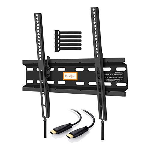 Perlegear PGMTK1- E -  Soporte TV de Pared Articulado Inclinable,  para Pantallas de 23- 55'' LCD OLED,  Brazo Ultra Fuerte para Soportar 60 kg,  Cable HDMI Incluidos
