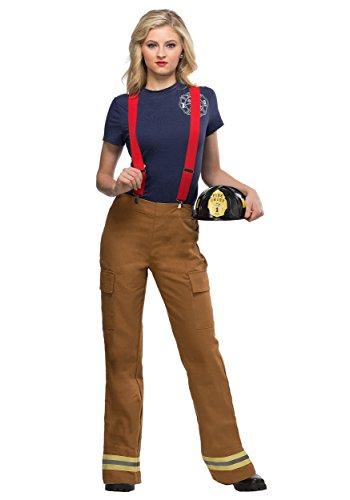 Frauen Feuer Captain Kostüm - XL