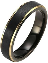 Jovivi Custom Tungsten Rings - Personalised Classic Tungsten Carbide Ring Men Women Wedding Band 5mm Engagement Ring Comfort Fit