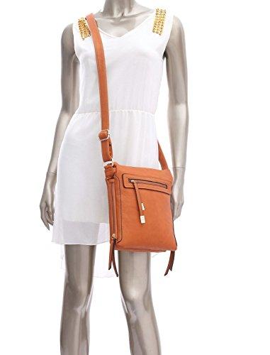 Big Handbag Shop - Borsa a tracolla donna (rosso)