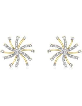 Carissima Gold Damen-Ohrringe 375 9 Karat (375) Gelbgold  Diamant