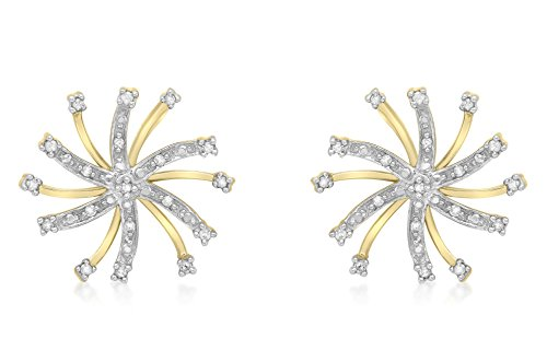 carissima-gold-9ct-yellow-gold-010ct-diamond-snowflake-stud-earrings