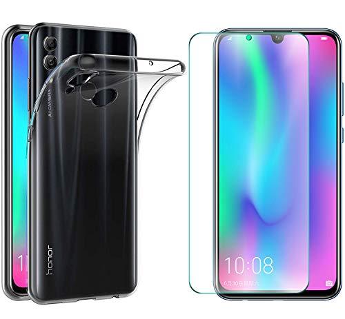 AOBOK [2-Teile, Xiaomi Mi Play-Abdeckung, Xiaomi Mi Play Gehärtetes Glas, Weiches Gel Weiche TPU-Schutzhülle aus Silikon für Xiaomi Mi Play Smartphone