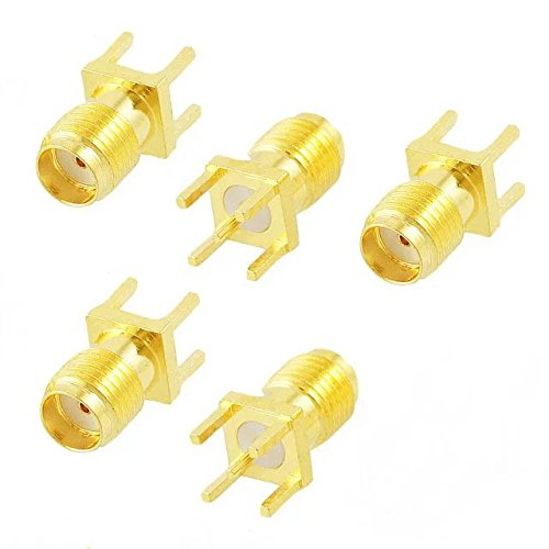 Goliton Adattatore del connettore RF Diritto Monte SMA femmina Plug 5 pc / lotto
