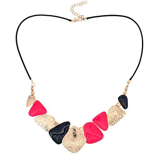 Lady Fashion Schmuck Mädchen Pfirsich Gold Navy Party Schöne Chunky Halskette für Frauen