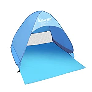 ideapro 2-3 person instant pop up tent waterproof portable cabana family kids beach shelter sun shade, baby beach play tent for camping fishing picnic - uv protective