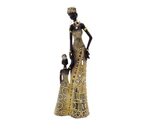 Afrikanische Figur Mutter Mit Kind Afrika Frau Deko Dekoration Dekofigur Style Skulptur Afrikanerin Massai Zulu Himba Accessoire Statue Groß Wohnaccessoire Kultur Schmuck