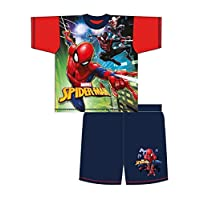 100% Official Merchandise Kids Childrens Boys Novelty Character 2 Piece Shortie Pyjama Set, Ages 1-12 Years
