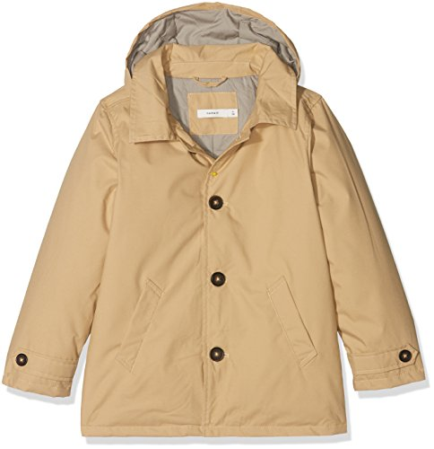 NAME IT Jungen Jacke NMMMIKKEL Trench Coat, Beige Warm Sand, 110