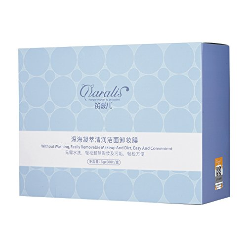 30pack Maquillage Visage Remover Wet Coton Lingettes Pour Les Lèvres Visage Yeux Mild Cleansing Moisturizing Tissue