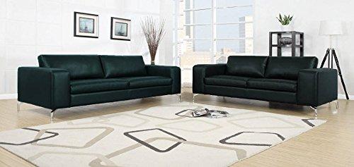 Madison Sofa Set 3er & 2er Wohnlandschaft Schwarz