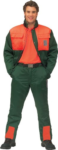 Preisvergleich Produktbild Schnittschutz Bundhose Forsthose Schnittschutzhose, Made in Germany, beste Qual, Grün, Gr. 54