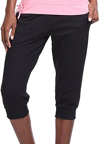Puma 3/4 Capri Ladies Training Sweat Pants - Black-L