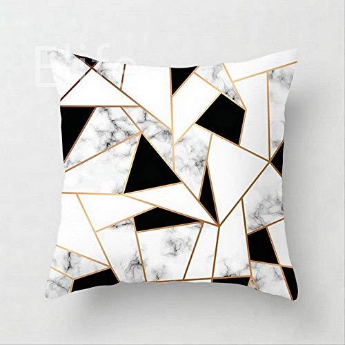 SKJSB Kissen Polyester Gold Geometrische Kissenbezug Werfen Marmor Ananas Kissenbezug Sofa Auto Dekoration 45 * 45 cm4 (Werfen Kissen Ananas)
