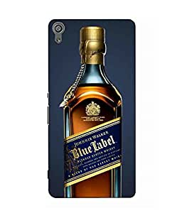 Make My Print Wine Printed Multicolor Hard Back Cover For Sony Xperia XA Dual