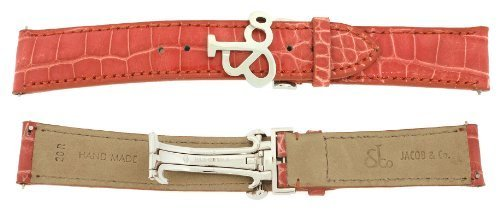 jacob-co-echtes-echt-alligator-coral-band-gitarrengurt-20rmm-uhr-fur-40-mm