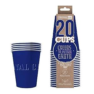 Original Cup - 20 x Vasos Américanos Papels Beer Pong 53cl - Juego para Beber - Azul