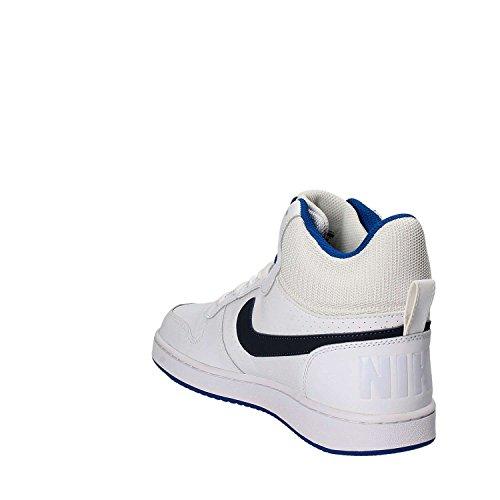 Nike Herren Court Borough Mid Basketballschuhe Weiãÿ (bianco / Thunder Blue / Blue Jey)