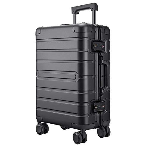 YUNY Koffer,Trägt der Trolley den Koffer mit einem TSA-Schloss und 4 Drehrädern, ist das Hartschalengepäck leicht-black-28in