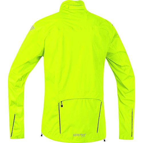 GORE BIKE WEAR Men's Cycling Rain Jacket, Super-Light, GORE-TEX Active, ELEMENT GT AS Jacket, Size S, Neon Yellow, JGELEA