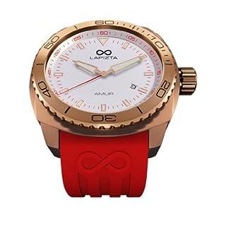 LAPIZTA Amur Ladies Sport Watch ? Rose Gold Case, Red Accents, White Dial L26.2104