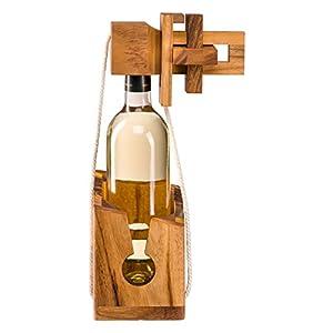 Flaschenpuzzle aus edlem Holz, Flaschentresor, Flaschensafe, Geschenkverpackung für gängige Weinflaschen, Flaschen…