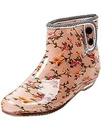 LvRao Botines de las Mujeres Boots Impermeable de Wellies del Jardín de Goma Botas de Lluvia Botas de Agua
