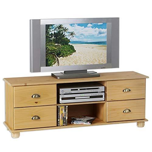 IDIMEX TV Möbel Lowboard Colmar Kiefer massiv 134 cm breit Fernsehtisch HiFi-Möbel Element Phonotisch Bank