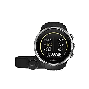 Suunto - Spartan Sport (HR) - SS022648000 - GPS Watch for Multisport Athletes + Cardiac Frequency Belt - Color Touch Screen - Black - One Size