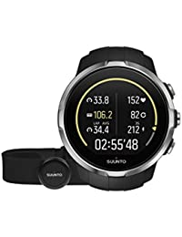 Suunto Herren-Armbanduhr 50mm Armband Silikon Schwarz Gehäuse Edelstahl Batterie Digital SS022648000