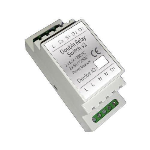 Z-Wave DIN Rail 2x1.5kW Switch module (Insert Fibaro FGS-223) Relay Track Mount