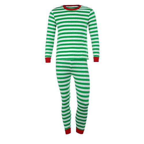 Gaddrt Frauen / Männer Paar Familie Matching Weihnachten Pajamas Set Bluse + Santa Striped Hosen Outfits Kleider Set (XL, (Süßes Outfit Ideen Paar Halloween)