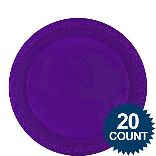 (Amscan Lila 9& # 34; Kunststoff Luncheon Teller (20Stück))