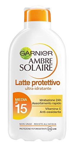 Garnier Ambre Solaire Latte Protettivo Ultra-Idratante IP 15, 200 ml