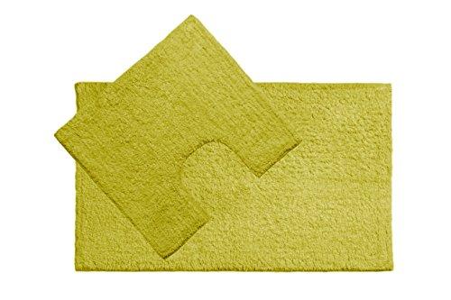 Set parure tappeto tappeti bagno cm 50x90 giro water bidet nero